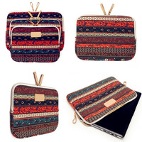 12&quot 13&quot 15.6&quot Bohemian Soft Canvas Laptop Sleeve Bag for Macbook = 1928831364