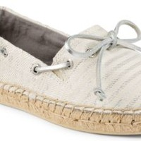Sperry Top-Sider Katama Breton Stripe Espadrille Charcoal/Silver, Size 5M  Women's Shoes