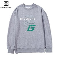 Givenchy hot print alphabet long-sleeved tops fashion casual hoodies Gray