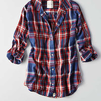 AEO Plaid Boyfriend Shirt , Multi