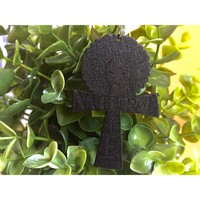 Natural life Ankh girl earrings