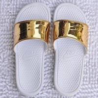 NIKE Casual Fashion Solid Color Flats Slipper Sandals Shoes-1