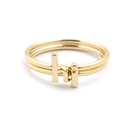Alphabet Rings, Stackable Initial Rings, 14k Gold Plated,Valentines Day 14k Gold Plated rings, Letter Rings