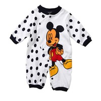 Baby Rompers Spring Newborn Baby Clothes Cotton Baby Boy Clothes Cartoon Baby Girl Clothes Roupas Bebe Mickey Infant Jumpsuits