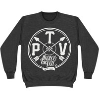 Pierce The Veil Men's  Arrows Sweatshirt Grey Rockabilia