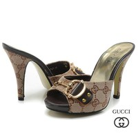 GUCCI Women Fashion Fish Mouth Heels Sandals Shoes