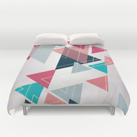Triangle Pattern Duvet Cover by Ashley Hillman