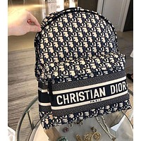 Dior women's full printed D letter logo backpack
