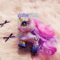 Samsung galaxy s3 cases 3D Bling Swarovski My Little Pony iPhone 4 Case Cute iPhone 4s Case iPhone 5 Case Horse iPhone Case iPod 5 case