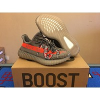 Adidas Yeezy 350 Boost V2 Gray Orange Sneake 36 46 | Best Deal Online