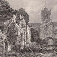 Antique Print Kirkwall Ruins of the Bishops Palace (A34) by Grandpa's Market
