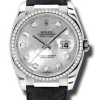 Rolex - Datejust 36mm - White Gold - Leather