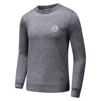 MONCLER 2018 autumn and winter new comfortable casual loose long-sleeved round neck pullover sweater Grey