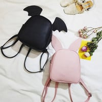 Kawaii Cartoon Ear Rabbit Bat Bag Backpack sold by cutexzp