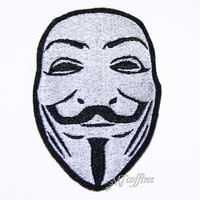 Guy Fawkes Vendetta Occupy Iron On Embroidery Patch MTCoffinz