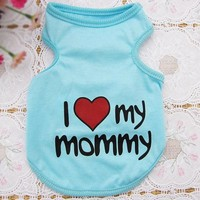 Lovely Pet Dog Shirt Clothes Cute Sweetheart Vest Shirts T Shirt Clothing for Dogs Cats Pet Products
