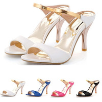 Women Sandals Sexy High Heels Flip Flops Gladiator Open Toe Less Platform Summer Shoes for ball party graduation casual formal = 4776775428