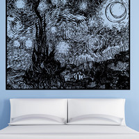 Vinyl Wall Decal Sticker Starry Night #5410