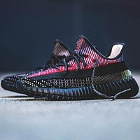 Adidas Trending Yeezy Boost 350 V2 Fresh Color Sports Sneakers Fashion running shoes Black-Color