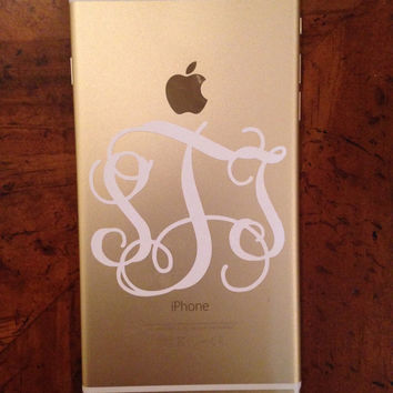 2.75 inch Vine Monogram Phone Decal Sticker Great for iPhone 6 Plus