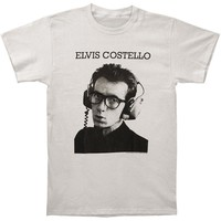 Elvis Costello Men's  Stereophonic Slim Fit T-shirt Silver
