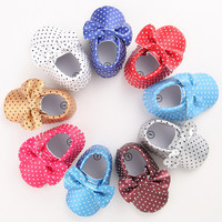 Cheap Branded Tassel First Walker Baby Shoes Newborn Girls Moccasins Leather Sole Boots Infant Crib Sneakers Bow Girl Slippers