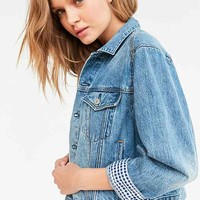 BDG Gingham Denim Boyfriend Jacket