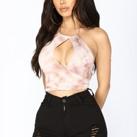 Shook Tie Dye Top - Mauve