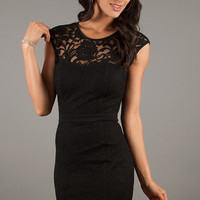 Black Cocktail Dress with Open Back by XO