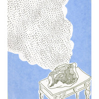 "ORIGINAL SERIGRAPHY print ""Intimate song in blue"""
