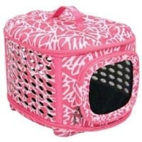 Petmate Curvations Luxury Pet Carrier, Small, Pink