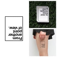 Point of View - Temporary Tattoo (Set of 2)