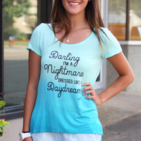 Vfish: Nightmare Dressed Like a Daydream Ombre Top {Blue}