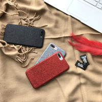 High Quqality Ultra thin Glitter case Red black cover for Apple iPhone 7 7plus Case Luxury Fundas for 6 6s Plus Soft Phone Case -0317