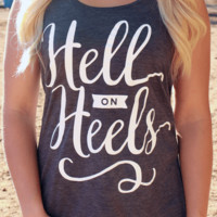 Hell on Heels | Flowy Racerback Tank Top