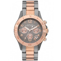 Marc by Marc Jacobs MBM3157 Women's Metal Rock Grey Dial Two Tone Stainless Steel Bracelet Chronograph Watch