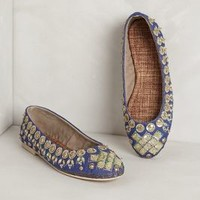 Jeweled Ballet Flats     by Anthropologie Navy 9 Flats