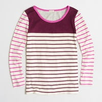 Factory colorblock striped tee