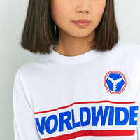 BDG Worldwide Cropped Long Sleeve T-Shirt - Urban Outfitters