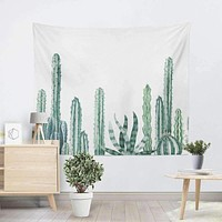 Silky Cactus Decor Tapestries