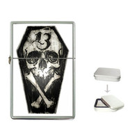 Zippo like Lighters by Shayne of the Dead Occult, Sugarskull, Day of the dead, skulls, coffin