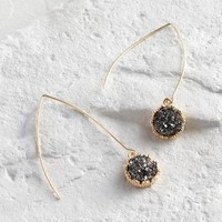 Pyrite Long Drop Earrings