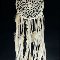 Hand Woven Majestic White Dream Catcher