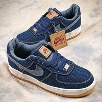 Levi's x Nike Air Force 1 Low Denim AF1 Sport Shoes - Sale