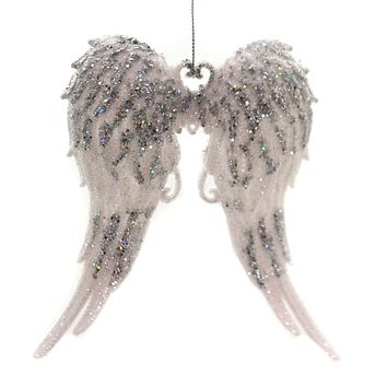 Holiday Ornament Angel Wings Faith Heavenly - T2098WS SILVER