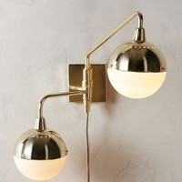 Anchored Orb Two-Arm Sconce by Anthropologie