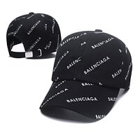 Wearwinds Balenciaga Hot Sale Women Men Sport Sunhat Print Baseball Cap Hat Black