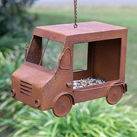 Rusty Ice Cream Truck Bird Feeder