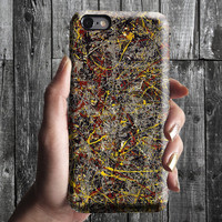 No. 5 - Jackson Pollock iPhone Case 6, 6S, 6 Plus, 4S, 5S. Mobile Phone Cell. Art Painting. Gift Idea Anniversary. Gift for him and her