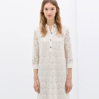 DRESS WITH JEWEL BUTTONS